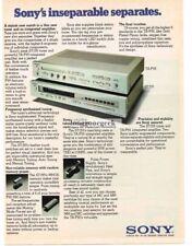 1980 Sony TA-F55 Amplifier St-J55 Tuner Stereo Hi-Fi Vtg Print Ad