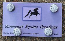 Horse Show Number Magnets - Silver Resin Gem - Saddleseat, Hunt Seat, Western