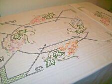 Vintage Embroidered Bedspread    (#5)
