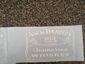 2 X Jack WHISKEY MAGE VINYL STICKER, FOR WALL,GARDEN BAR, MAN CAVE 250mm x 200mm