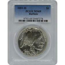 2001-D Buffalo Commemorative PCGS MS69 Silver One Dollar Coin
