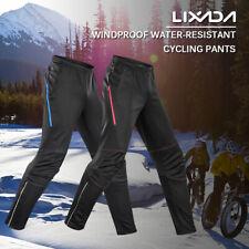 Men Waterproof Cycling Pants Thermal Fleece Riding Running Sports Trousers P6Z3