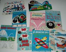Vintage High Bounce Balls Gumball Machine Insert Card Lot like whamo