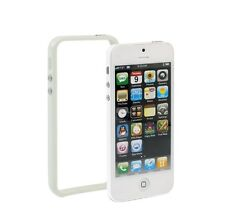 Bumber Weiss para Apple iPhone 5 blanco case cover TPU protección marco Wow