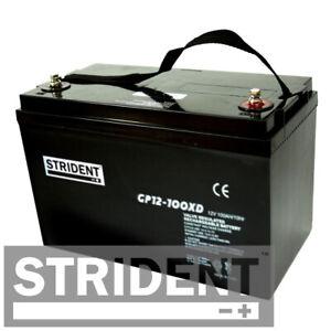 Pair of Strident 100ah 12v Batteries Suitable for Pride Executive & Pride Raptor