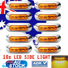 10 x 12v 24v Amber Led Side Marker Tail Light Lamp Clearance Trailer Truck CAR