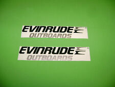Evinrude outboards  marine engine decals sickers pair