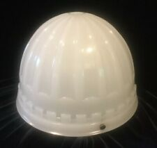 Large Antique Art Deco Embossed Glass Ceiling Shade Light