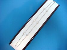 """1.50 CT 7 LARGE DIAMOND STATIONS """"DIAMONDS BY THE YARD"""" NECKLACE, 16 INCH LONG"""