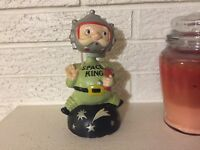 Rare Antique Space King Ceramic BobbleHead Ceramic Bank DL