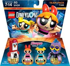 Lego Dimensions The Powerpuff Girls Blossom Bubbles Octi 71346 Team Pack PPG Sma