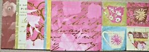 """12 x Foiled Tea Time Patterned 6"""" x 6"""" Backing Papers from Imaginations NEW"""