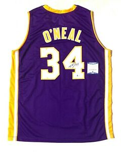 """SHAQUILLE """"SHAQ"""" O'NEAL SIGNED PRO STYLE """"DIESEL"""" JERSEY BECKETT COA #WF19404"""