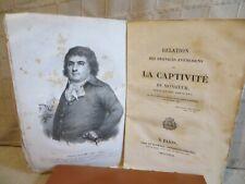 relation de la captivité de Monsieur frère du roi Louis XVI Comte d'Avaray