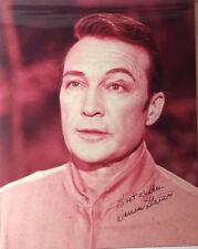Star Trek Autograph Warren Stevens as Rojan 8 x 10 Photo- Free S&H(Lhau-656)