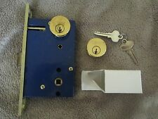 S. Parker Double Cylinder Mortise Lock Polished Brass Iron gate Storm Door