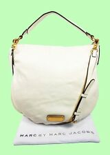 MARC JACOBS Q HILLIER Leche Leather Hobo/Shoulder Bag Msrp $428.00