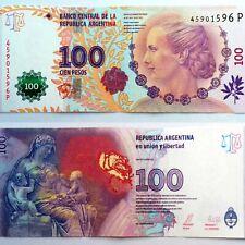 Billet de banque  USED  TB XF  Argentine 100 Pesos  EVA PERON , plis , fold AR35