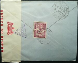 SOMALILAND PROTECT. AUG 1940 KGVI CENSORED COVER FROM BERBERA TO BOMBAY, INDIA