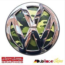 VW GOLF MK5 Jungle Green Camo - REAR Badge Inserts. POLO LUPO