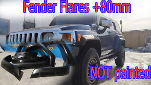 Fender Flares +80mm ffor Hummer H3 NOT painted