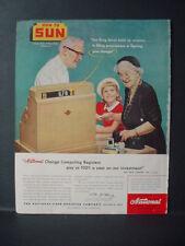1956 National Cash Register Sun Drugstore Chain shows Change VTG Print Ad 10745
