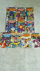 Lot Of 10 Bronze Age Marvel Comic Books MACHINE MAN #2 - #11 Great Condition!