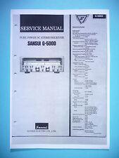 Service Manual-Anleitung für Sansui G-5000