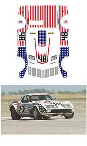 #48 John Greenwood 1971 Corvette decal AFX LIfelike Tyco Autoworld 1/64 scale
