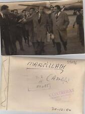 Adolfo Marsillach. Fotografía de la artista de cine a su llegada a España.