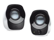 Logitech Z120 Speaker Black White 2.0 Wired 3.5 mm 1.2W Laptop Mac