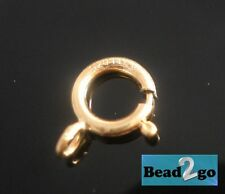 14K Gold Filled Spring Clasps 5.5mm, Open Ring Findings Wholesale Bulk Clasps