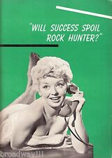 "Merry Anders ""WILL SUCCESS SPOIL ROCK HUNTER?"" Gene Raymond 1956 Program"