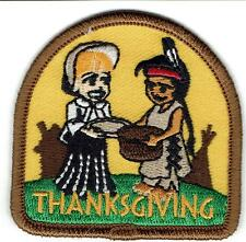 Girl Boy Cub THANKSGIVING Pilgrims dinner Fun Patches Crests Badges SCOUT GUIDE