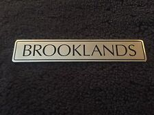 Bentley Brooklands 1994-98 Chrome Black Boot Trunk Badge UB87966 OEM