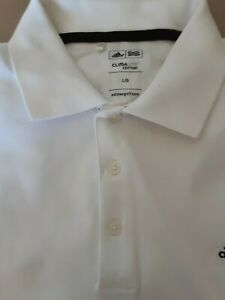 Adidas Golf Polo Shirt White Clima Cotton Large