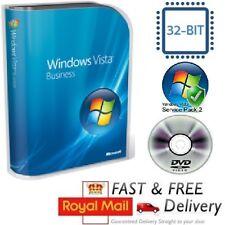 Windows Vista Business 32-bit SP1 Full Version & License COA Product Key on DVD