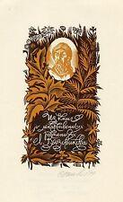 Medicinal Plants, Herbal Medicine,  Ex libris Bookplate by Eugeny Sinilov