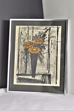 "BERNARD BUFFET SIGNED 1968 STONE LITHOGRAPH ""FLOWER"" (w/ COA) LIMITED EDITION"