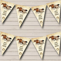 Party Banner Bunting Vintage Horses Personalised Birthday