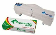 """Wrapmaster 4500 Dispenser For Clingfilm & Foil 18"""" + Box Of 3 Clingfilm Rolls"""