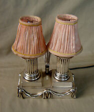 RARE LAMPE CHARLES CHRISTOFLE 1ère PÉRIODE FRENCH CANDLESTICK LAMP SILVERPLATED