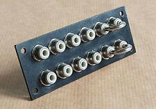 Pièce détachée Amplificateur SCOTT A436.Bornier Input,2x6 RCA + cavalier.