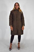 WOOLRICH Parka Giubbino Verde Stile Casual In Cotone Taglia L Donna Woman