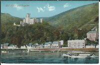 Ansichtskarte Koblenz - Stolzenfels und Capellen mit Dampfer - coloriert um 1910