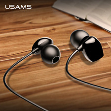 USAMS 3.5mm High Quality in-ear Hifi Earbuds Smart Wired Bass Stereo Headset Hot