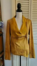 NWT Shyanne Women's Yellow Faux Suede Embroidered Jacket Sz M $89.99