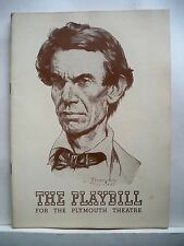 ABE LINCOLN IN ILLINOIS Playbill RAYMOND MASSEY / NORMAN ROCKWELL NYC 1939