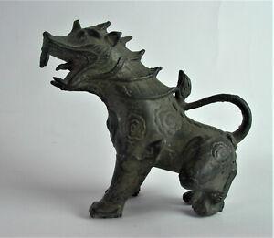 - älterer Bronze FOO HUND - DRACHE bronce H15cm