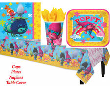 Disney Trolls Birthday Party Pack of 33 pc ~ TableCover, Plates, Cups & Napkins